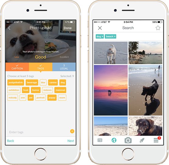Foap Mobile Application for Image Tagging