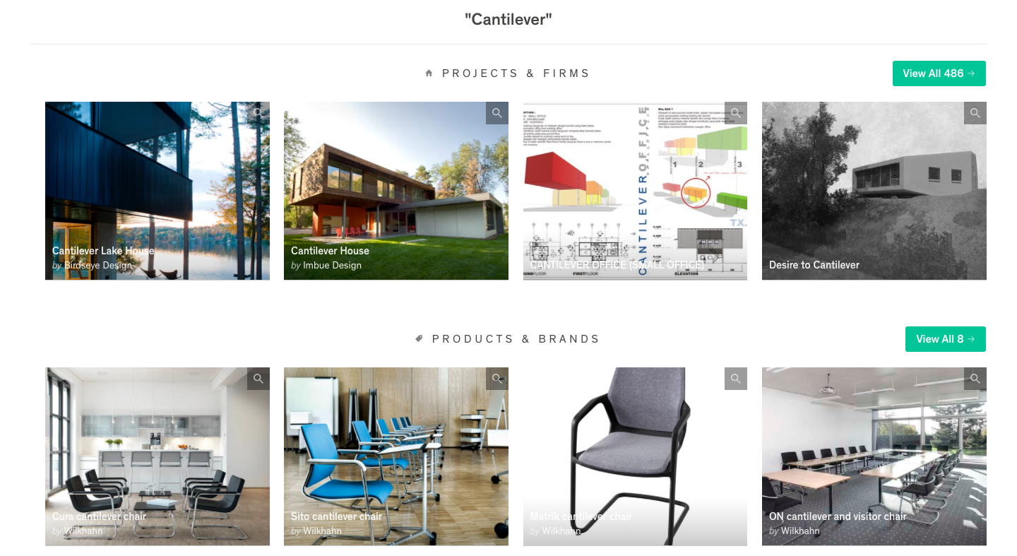 Cantilever projects and brands