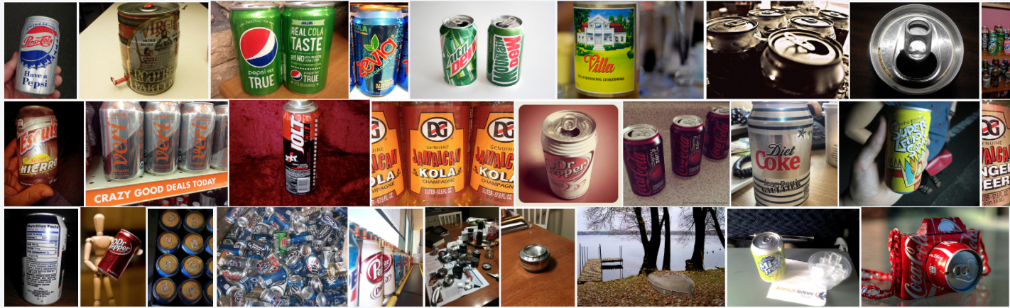 Variety of Soda cans